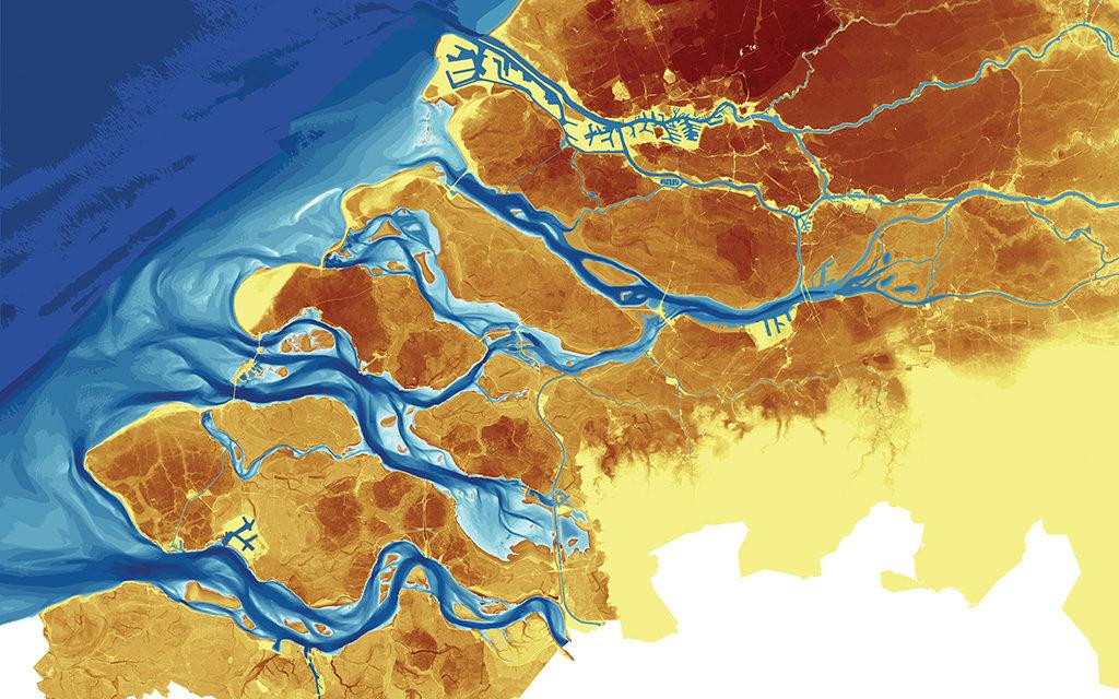 Posad-0815-Atlas-Zuidwestelijke-Delta-Hoogtekaart